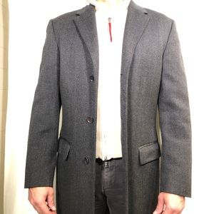 Calvin Klein Collection gray wool overcoat